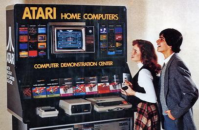 Atari gaming demo center, circa 1980. Image via wylio