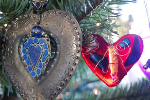 Christmas tree detail. Photo by Cathleen Falsani for Sojourners.