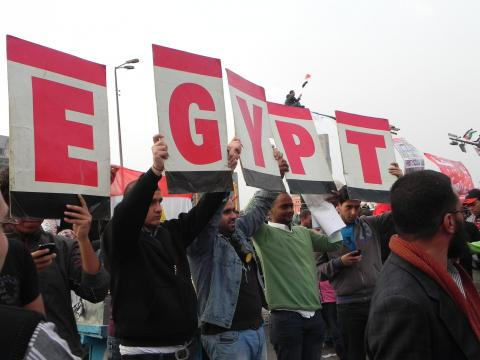 A peaceful demonstration floods Tahrir Square last Friday. Image courtesy of Kar
