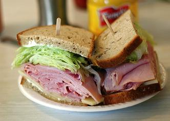 Ham sandwich. Image by Marshall Astor via Wylio, http://bit.ly/zjSmtb.
