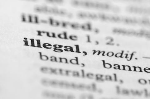 Dictionary Series: Illegal (Shutterstock.com)