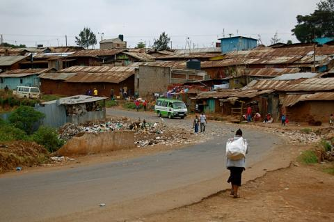 Kibera, the largest slum in Africa. Nairobi, Kenya. Photo by Cathleen Falsani.