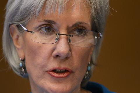 US Health and Human Services Secretary Kathleen Sebelius in a May 2012 meeting a