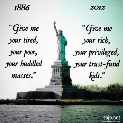 Statue of Liberty illustration, Sandi Villarreal / Sojourners