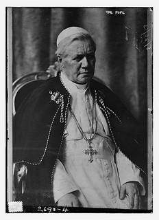 Pope Pius X image via Library of Congress / Flickr