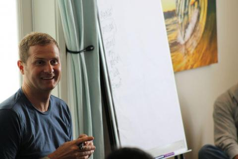 Rob Bell in Southern California Tuesday. Photo by Cathleen Falsani/Sojourners.