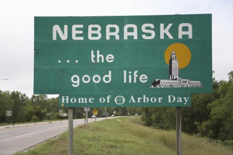 Nebraska welcome sign, spirit of america / Shutterstock.com