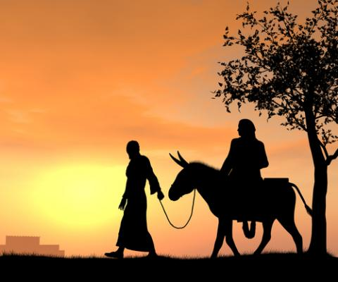 Photo: Joseph and Mary travel to Bethlehem, © KimsCreativeHub / Shutterstock.com