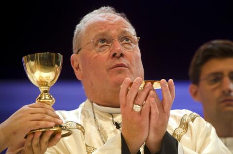 Cardinal Timothy Dolan says Mass in Madrid in 2011, Jeffrey Bruno / Shutterstock