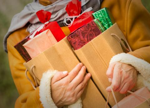 Piles of holiday boxes. Image courtesy lola1960/shutterstock.com