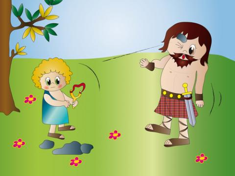 David and Goliath illustration, Milena Moiola / Shutterstock.com