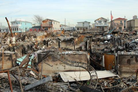 Hurricane Sandy destruction in Breezy Point, N.Y., Leonard Zhukovsky / Shutterst
