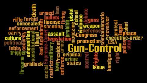 Gun control word cloud, Rob Wilson / Shutterstock.com