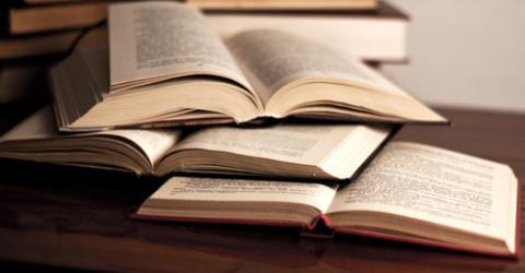 Pile of textbooks, Skylines / Shutterstock.com