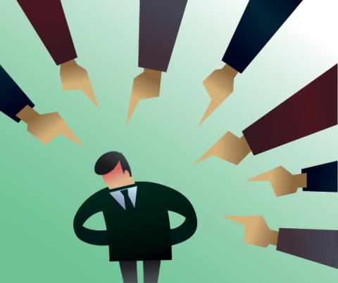 Scapegoat illustration, durantelallera / Shutterstock.com