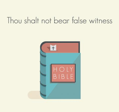The ninth commandment illustration, Siarhei Tolak / Shutterstock.com