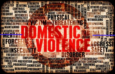 Domestic violence word cloud, kentoh / Shutterstock.com
