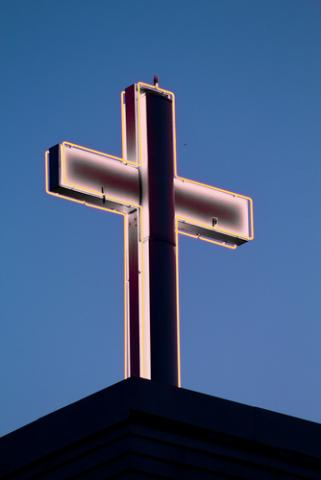 Neon cross. Image courtesy Laura Bartlett/shutterstock.com