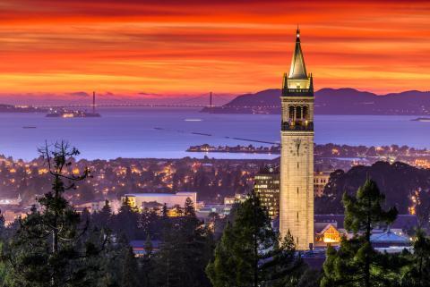 UC Berkeley Sather Tower. Image via Chao Kusollerschariya/shutterstock.com
