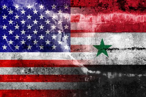 U.S. and Syrian flags, PromesaArtStudio / Shutterstock.com