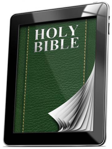Tablet Bible. Image courtesy Alberto Masnovo/shutterstock.com