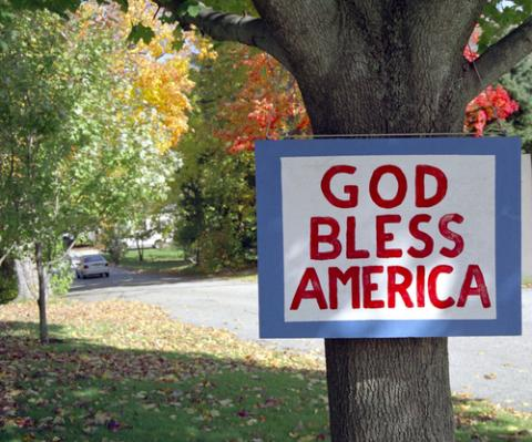 God bless America sign, Tony Mathews / Shutterstock.com