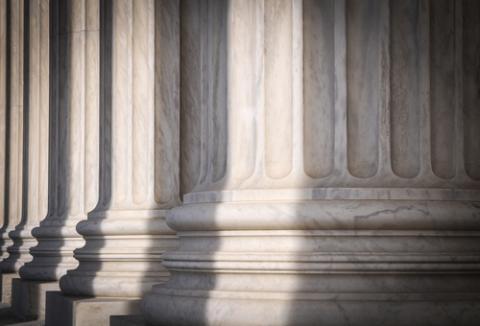 Pillars of the Supreme Court, Brandon Bourdages / Shutterstock.com