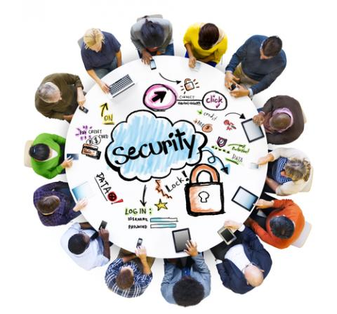 Community gathered around online security. Image via Rawpixel/shutterstock.com