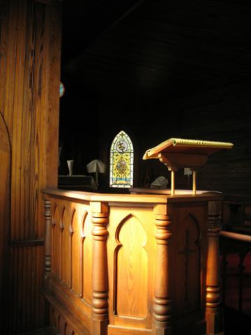 Traditional church pulpit, © Pattie Steib |Shutterstock.com