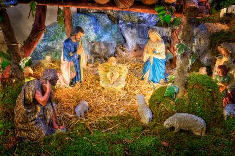 a typical christmas manger scene image courtesy nomadcroshutterstockcom