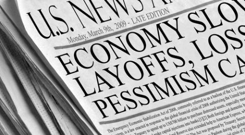 Newspaper headlines, justasc / Shutterstock.com