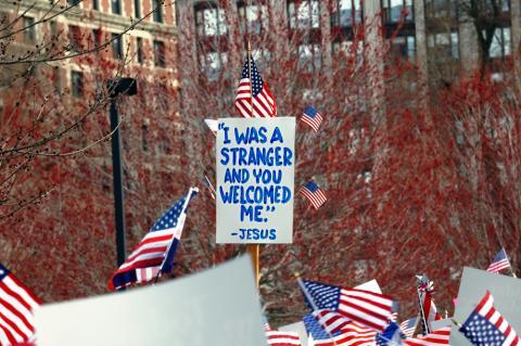 Boston immigration rally, Jorge Salcedo / Shutterstock.com