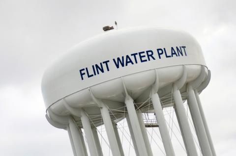 Flint, Mich., water tower.