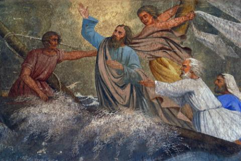 Jesus calming the storm, Zvonimir Atletic / Shutterstock.com