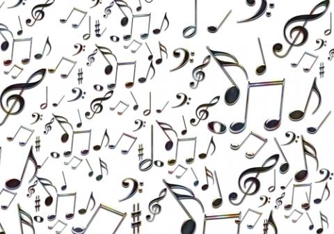 Musical notes, graph / Shutterstock.com