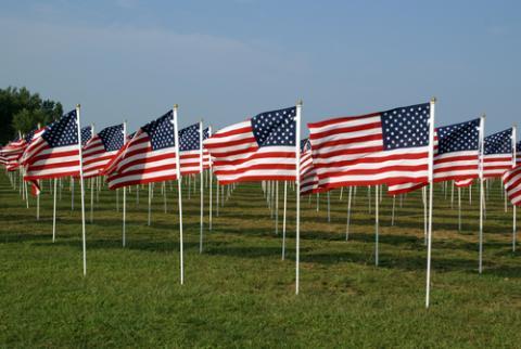 American flags commemorating 9/11, Vladimir Korostyshevskiy, Shutterstock.com