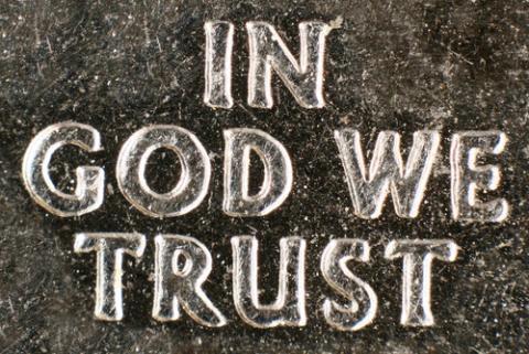 U.S. coin motto,  I. Pilon / Shutterstock.com