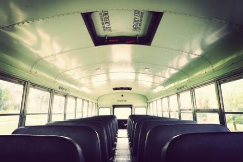 School bus interior, Suzanne Tucker / Shutterstock.com