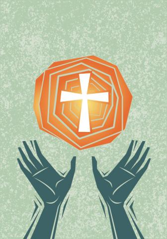 Worship illustration, orestpath / Shutterstock.com