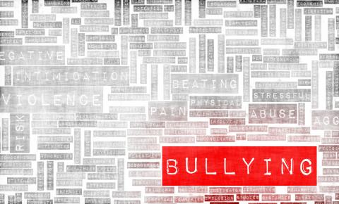 Bullying word cloud, kentoh/Shutterstock.com