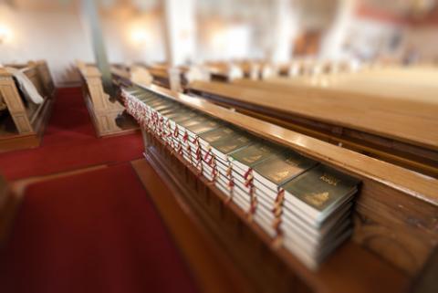 Hymnals at a church, Alexander A.Trofimov / Shutterstock.com