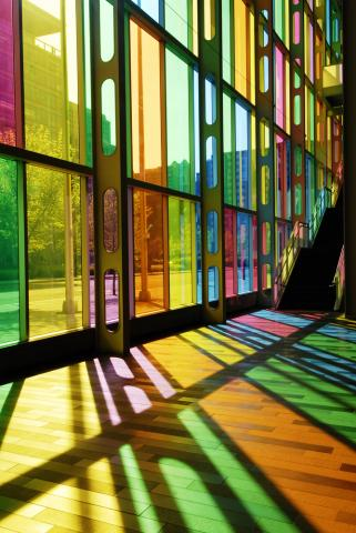 Modern stained glass, Chris Howey/ Shutterstock.com