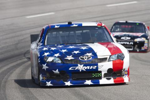 Patriotic racecar.Walter G Arce / Shutterstock.com