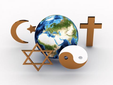 Interfaith religious symbols, Sana Design / Shutterstock.com