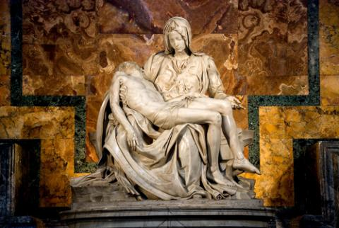 Michaelangelo's Pieta in St. Peter's Basilica, javi_indy / Shutterstock.com