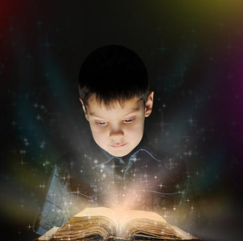 Boy reading a book, Valeriy Lebedev  / Shutterstock.com