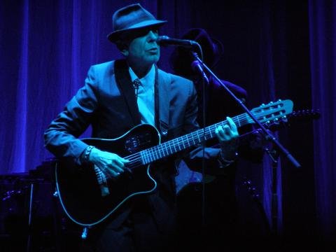 Leonard Cohen in Florence in 2010 / Route66 / Shutterstock.com