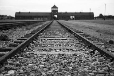 Entrance gate to Auschwitz, wiktord/Shutterstock.com