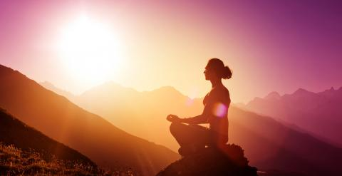 Morning meditation, Vinogradov Illya / Shutterstock.com
