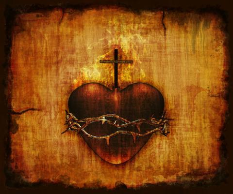 Sacred Heart of Jesus image, Linda Bucklin / Shutterstock.com